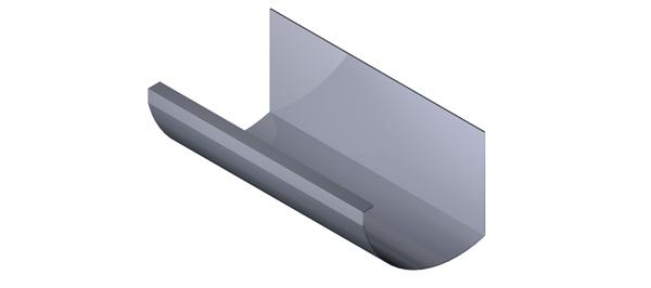 Aluminium Gutter - HR Range
