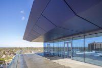 Victoria Gate, Woking: Anodised Aluminium Raking Fascia & Secret Fix Soffit Panels, Modulated