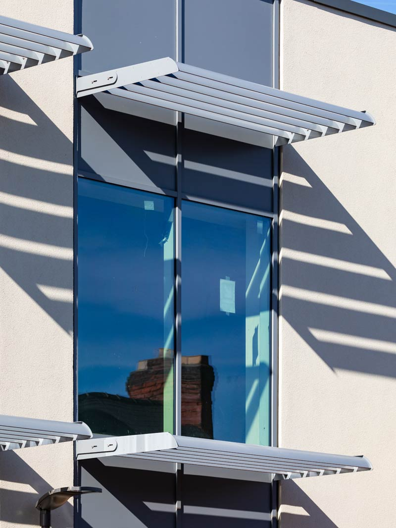Savoy Cinema, Grantham: Shadex 150 Brise Soleil in RAL 7046 Matt