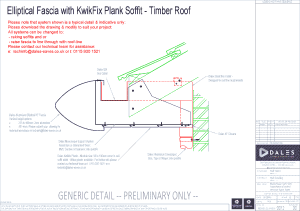 Elliptical fascia with Kwikfix soffit