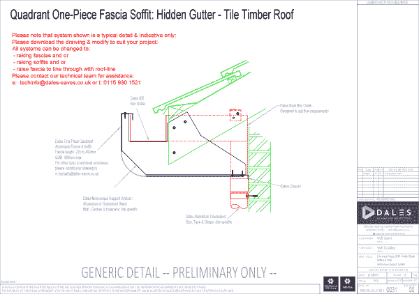 One piece quadrant fascia/soffit