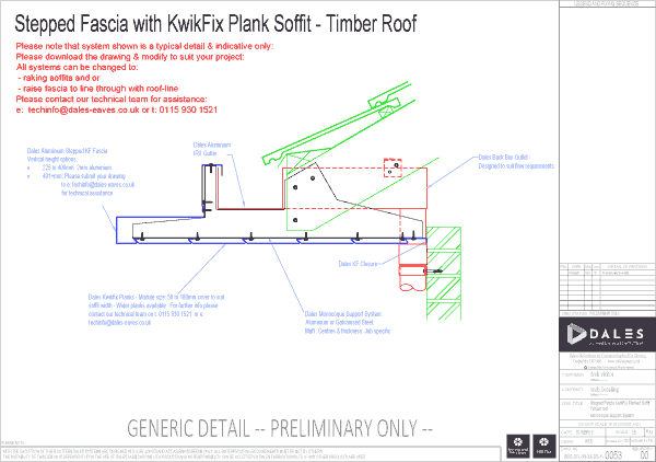 Stepped fascia with Kwikfix soffit