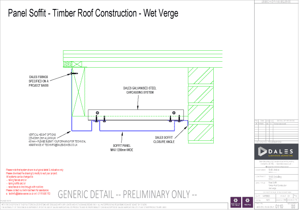 Wet verge panel soffit
