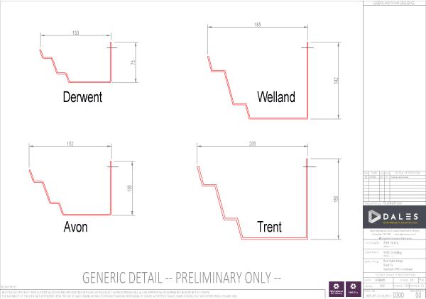 Derwent/ Avon/ Wellend/ Trent gutters model