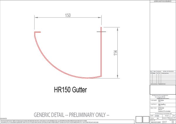 HR150 gutter