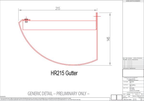 HR215 gutter