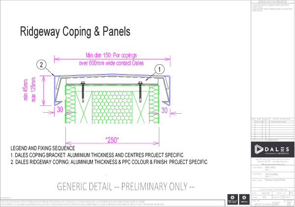 Ridgeway coping and panels